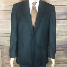 HICKEY FREEMAN Blazer Men's 40R Regular Charcoal Pinstriped Sport Coat Jacket