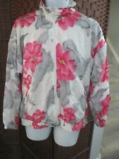 VTG 1990's Women's Light jacket All Over Flower Pattern Large Multi Color