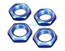 Tuercas rueda seguridad 17mm 1/8 serradas azules (4 Uds.) Kyosho IFW472BL