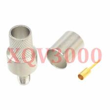2pcs Connector RP*SMA female plug pin crimp for RG8 LMR400 RG213 RG165 nickel
