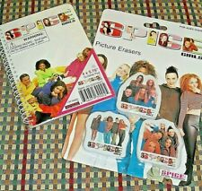 NEW Spice Girls Picture Erasers & Notebook/Scribble Pad -- Official Merchandise