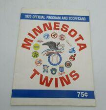 Vintage Minnesota Twins Official Program And Scorecard 1979 vs.Cleveland Indians