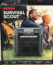 ION Audio Survival Scout Bluetooth Speaker w/ Solar and Hand Crank Power NEW