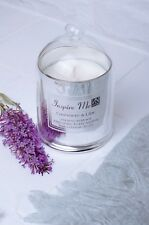 Candle Gift Set Silver Luxury Scented Soy Wax Cashmere Lilac & Inspired Quotes