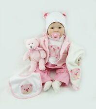 Silicone vinyle Reborn bébé fille poupée fait à la main réaliste nouveau-né 55cm
