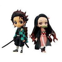 2pcs Demon Slayer Kamado Tanjiro Nezuko Q Posket PVC Action Figure Model Toys