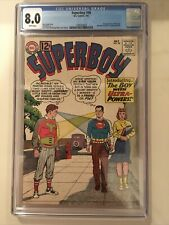 Superboy #98 (DC, 7/62) CGC 8.0 White Pages  (1st appearance Ultra Boy) Superman