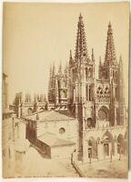 Burgos Catedral España Foto J. Laurent Pequeño Formato Vintage Albúmina