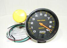 """Autometer Pro-Comp Tachometer 0-10,000 5"""" Dia W/Shift Light Black Face 5160 EXC"""
