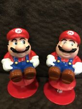 2 Vintage 1989 Super Mario Brothers  Spring Pop Up Toy Raccoon Tail Nintendo