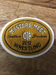 2012 CIF Masters Meet Wrestling  Chenille Felt Letterman Jacket Patch