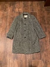 Vintage Mens Irish Wool Tweed Overcoat Aquascutum Long Coat