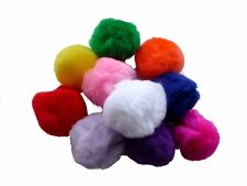 Pom Poms Assorted Colours 12mm & 25mm Red Blue Green Pink Orange Etc Pack of 50