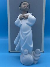 """Lladro Figurine """"Filled With Joy � 6493 Gloss Black Legacy retired Minty In Box"""