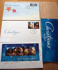 Australia 2000 CHRISTMAS -PO stamp pack - MNH + FDC x 3 incl 80c Byron Bay stamp