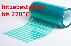 hitzebeständige Klebepunkte rund Abdeckband bis + 220°C Pulverlack  Beschichtung