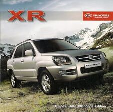 Kia Sportage XR 2.0 4WD Limited Edition 2008 UK Market Sales Brochure