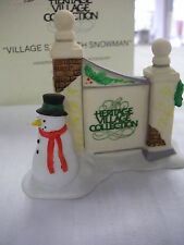 "Dept.56  Heritage Village ""Village Sign with Snowman"" #5572-7  Department 56 #02"