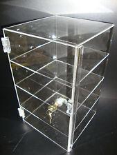 "Acrylic Countertop Display Case 9 1/2"" x 9 1/2"" x 16"" Locking Security Show Case"