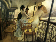 Dream-art Oil painting Joseph Tissot - The Gallery of H.M.S. Calcutta Portsmouth