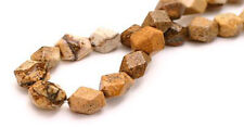 Semi Precious Picture Jasper Faceted Nugget Beads 8MM