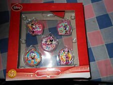 "NIB Disney Holiday Ornaments Set 5  85th Anniversary Each About 1 1/2 - 1 3/4"" H"