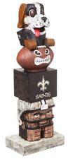 New Orleans Saints Tiki Tiki Totem Statue NFL Football Mascot Gumbo The Dog