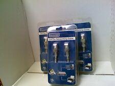 Lot of 3 Category 5e Cat5e Ethernet Cable 10' Tech Universe TU1510 New Retail