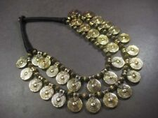 N4821 Ethnic Tribal Brass tone beads Spiral strand BOHEMIAN Collar NECKLACE