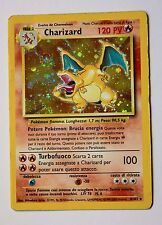 Charizard carta, 4/102, holo, Rara, card, set base, POKEMON