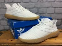 ADIDAS MENS UK 9 EU 43 1/3 SOBAKOV WHITE KNIT GUM SOLE TRAINERS RRP £100   LG