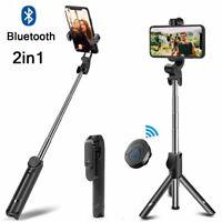 Wireless Bluetooth Extendable Selfie Stick Tripod w/ Shutter Remote Phone Holder