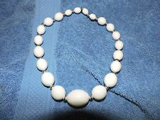 "Necklace - 18"" Long Lovely Vintage 60's White"