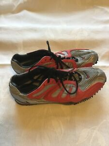 Nike Super Shift Bowerman Sprint Spikes Red and Silver Size 4.5UK