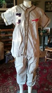 Vintage Cheltenham American Legion Wool Baseball Uniform - 1950's