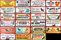 Blechschild 28x12 Deutscher durch Geburt BERLINER durch Gnade Gottes Bar Kneipe