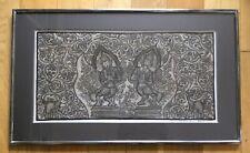 Original Framed Burmese Dancers & Elephants Painting Signed Myint Aung Bagan