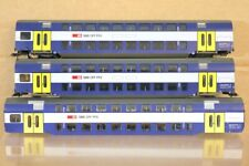 FLEISCHMANN SPARES REPAIR RAKE of 3 SBB CFF SNCF S-BAHN DOPPELSTOCK COACH nr