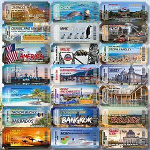 Flight Birthday Trip Boarding Pass Ticket Orlando Surprise Reveal Gift Florida