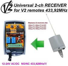 V2 Wally1,2,4 Wally-U compatible universal 2-channel ricevitore, 12-24 VAC/VDC