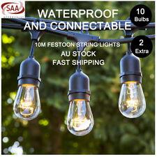 5 Pcs 10M Festoon String Lights S14 Kits Wedding Party Waterproof Garden Outdoor