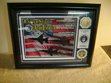 The Danbury Mint U.S. Air Force Fly,Fight,Win Michael Comforto ,Coins,Pic Framed