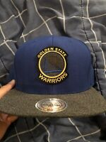 Golden State Warriors Mitchell & Ness Blue Yellow Curry Snapback Hat NBA