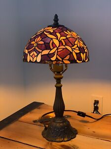 Medium , Tiffany Style Stained Glass Lamp