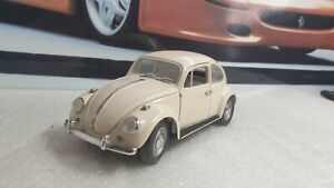 FRANKLIN MINT - 1967 VW BEETLE  - 1/24 SCALE MODEL CAR - SPARES OR REPAIR