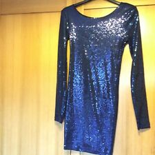 Nearly new Topshop long sleeve sequin dress size 10 L abt 78 cm