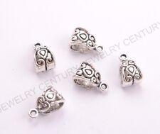 20/50/100Pcs Tibetan Silver/Gold/Bronze Charm Pendant Bail Connector Beads C3030