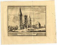 Antique Print-EGMOND-ABBEY-ABDIJ-NETHERLANDS-Schijnvoet-Roghman-1754