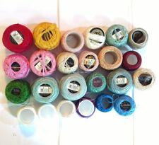 20+ partial balls #8 and #12 perle cotton DMC Anchor solid colors