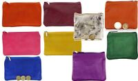 Italian Soft Leather Hand made Zipped Purse, Coin Purse or Credit Card holder